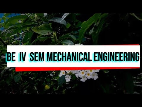 BE 4th Sem MECHANICAL ENGINEERING -SUBJECTS [CBCS]