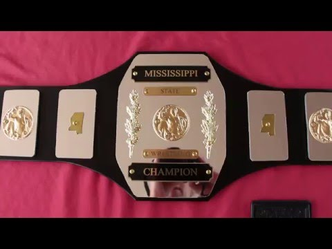 Mississippi trophy style belt leathered by Mrs. B
