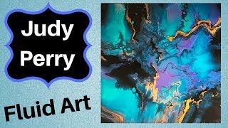 Color Shift paints on 14 x 14 canvas
