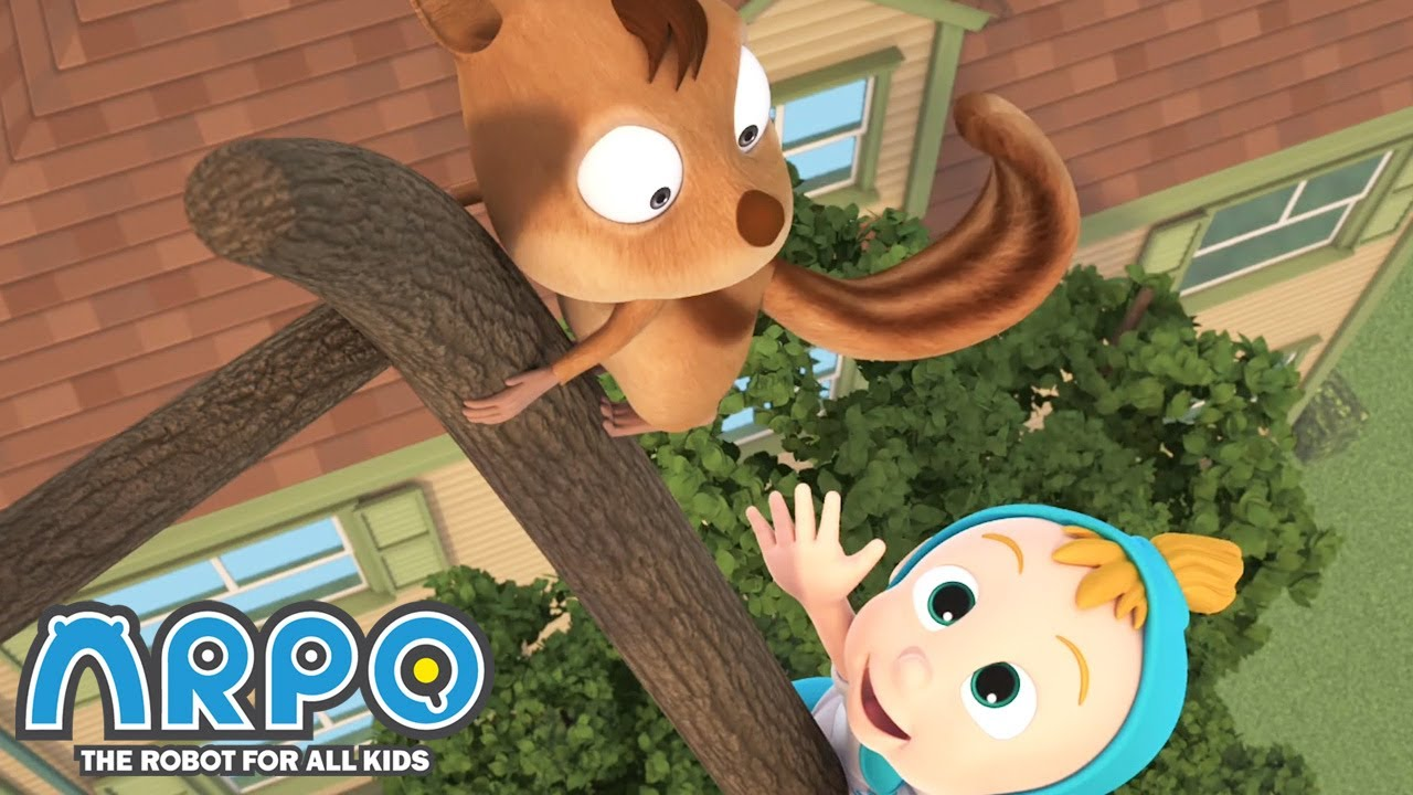 Baby Daniel vs a SQUIRREL! - Arpo the Robot |  Funny Cartoons for Kids | Kids Series | Animation