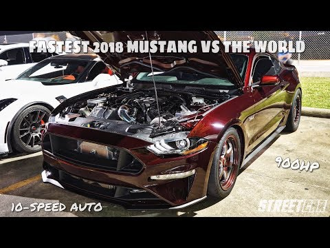 2018 TWIN TURBO MUSTANG takes on 900hp ZR1, TT Camaro, YSI C6 & 850hp Paxton 5.0 on THE STREET!!!