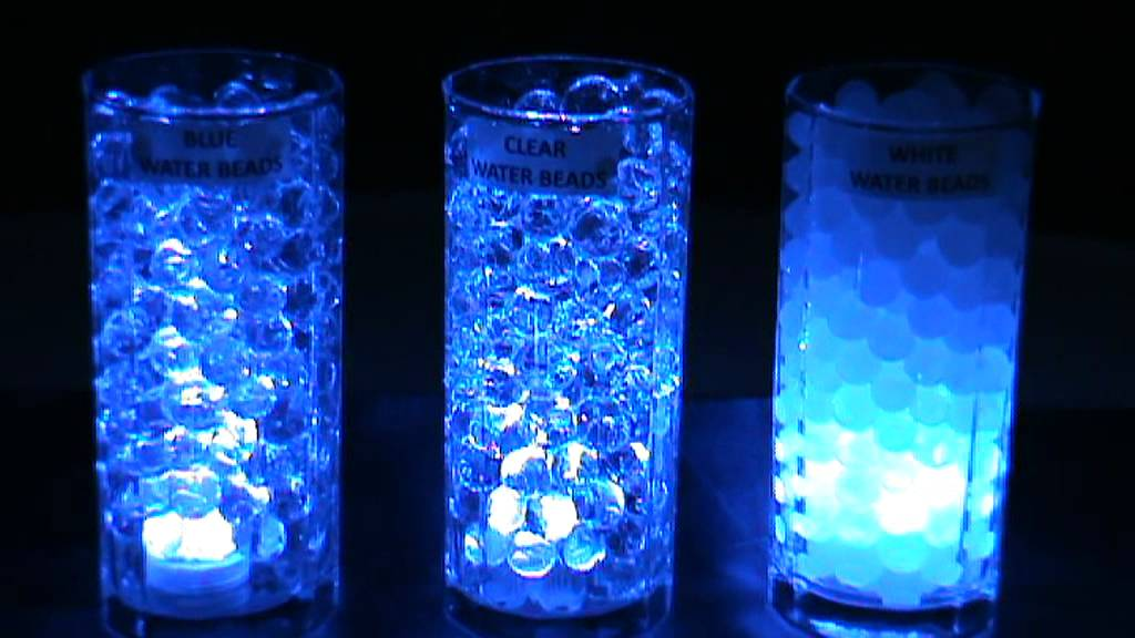 3led Submersible Lights Blue Amp Blyss 174 Water Beads Youtube
