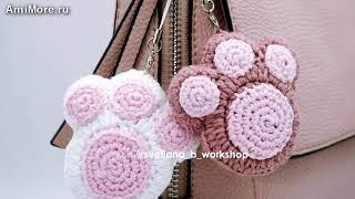 "Амигуруми: схема Брелок ""Кошачья Лапка"". Игрушки вязаные крючком - Free crochet patterns."