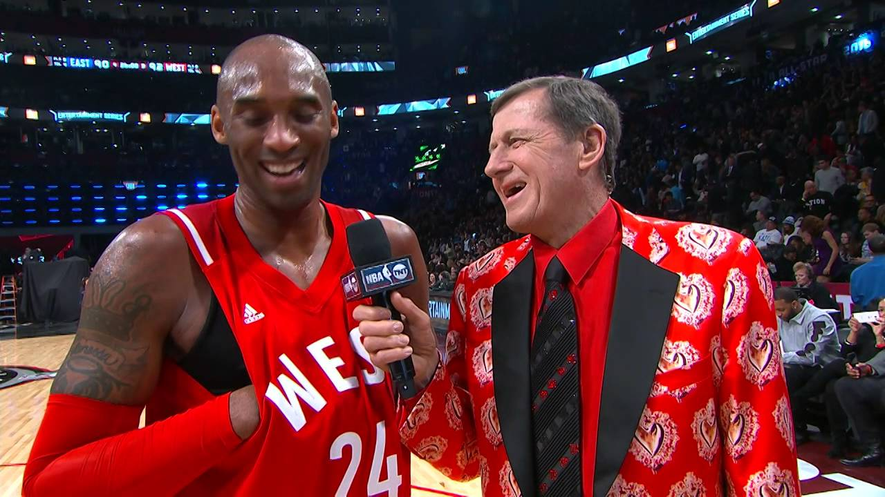 8d48f1162509 LeBron James Video Bombs Kobe Bryant During Interview with Craig Sager