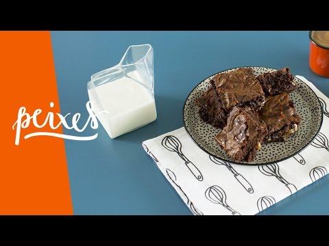peixes | brownie intuitivo com doce de leite | a cozinha afetiva dos signos