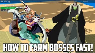 BEST WAY TO FARM BOSSES! | ONE PIECE MILLENIUM | ROBLOX