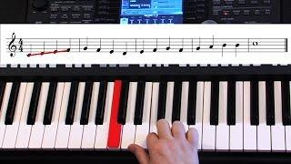 Самоучитель игры на синтезаторе. Урок 2.  Как легко научиться читать ноты.