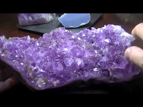 The Haul for Fall  Amethyst Points, Clusters, and Geodes