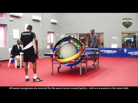 Bi Monthly Invitational Table Tennis Championship S Finals Adeyinka Ahmed vs Olabisi Yussuf