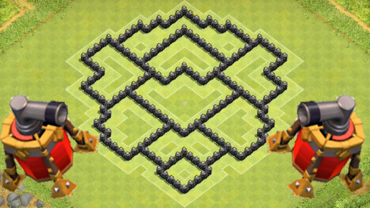 Clash Of Clans Air Sweeper Th7 Defense Strategy Best Coc Town Hall 7 Farming Layout New Update Youtube