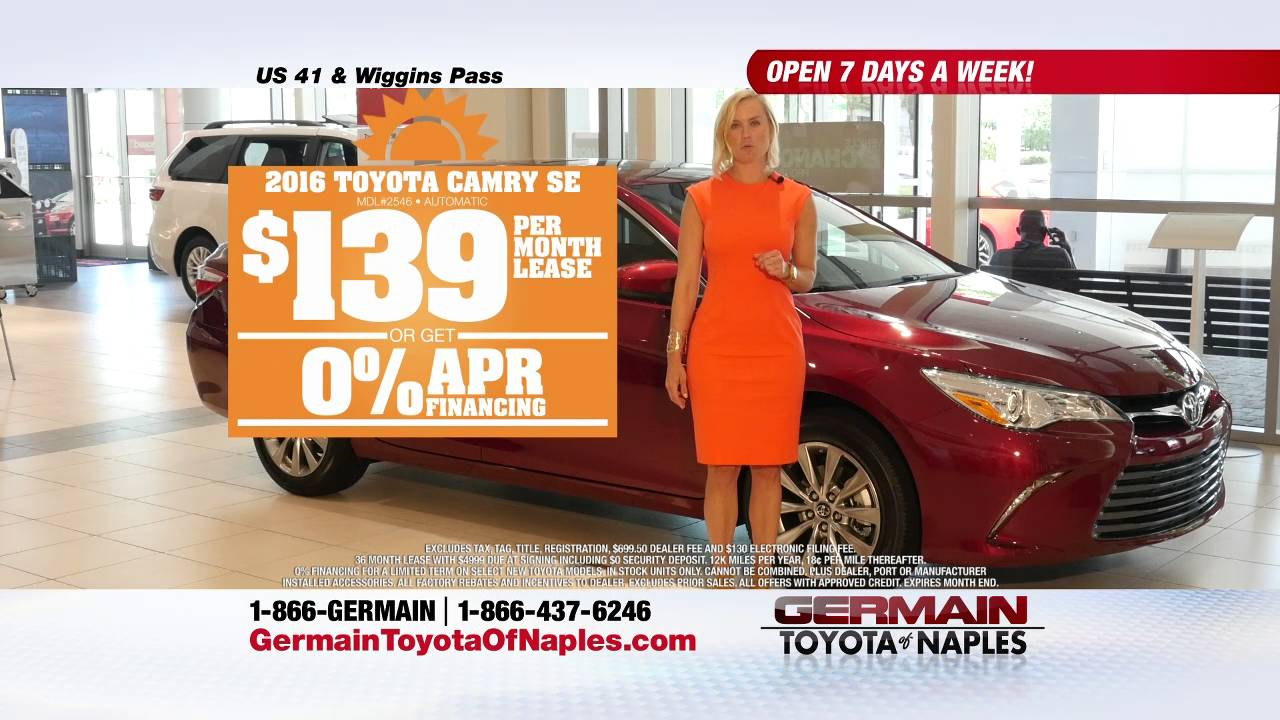 Germain Toyota Of Naples Summer Sales Event Camry Lease