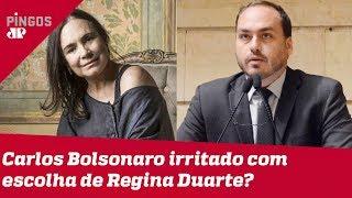 Carlos Bolsonaro não aprova Regina Duarte?