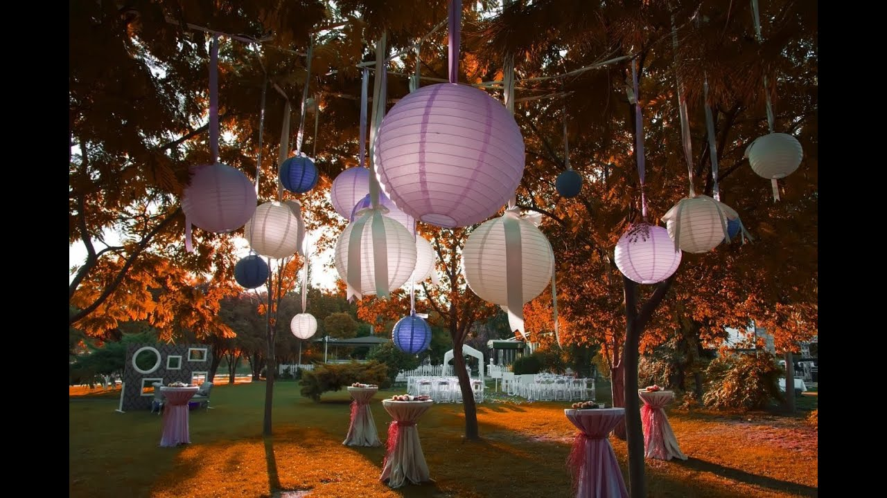 Garden party decorations youtube for Backyard party decoration ideas