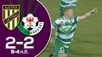 ÖFB Cup Viertelfinale: Austria Lustenau - WSG Tirol (2:2) 5:4 n.E. ● Alle Tore und Highlights