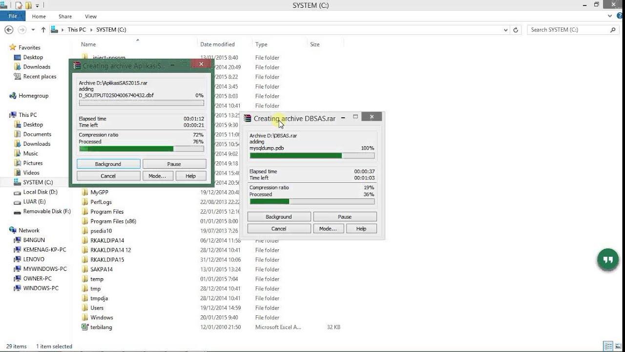 Backup Aplikasi dan database SAS - YouTube