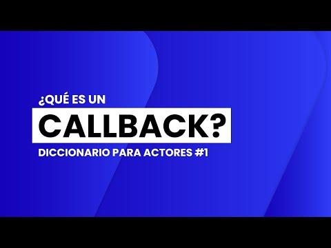 ¿Qué es un CALLBACK? | 📖🎬 DICCIONARIO para ACTORES #1