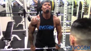 Repeat youtube video IFBB Pros Jeremy Buendia and Tory Woodward FST7 Shoulder Training