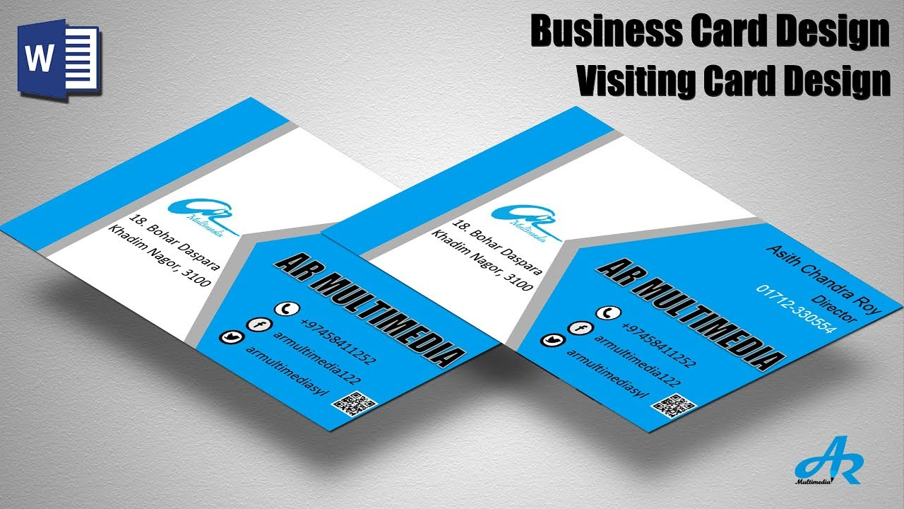 MS Word Tutorial: Create professional Business Card Design tutorial 2019 create Business Card