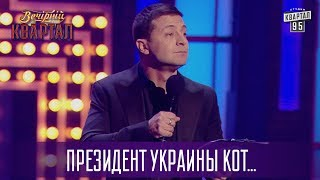 Президент Украины кот - Владимир Зеленский о новом политическом тренде | Новый Вечерний Квартал 2017