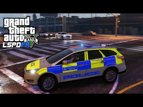 POLICE FORD FOCUS ESTATE PATROL - GTA 5 LSPDFR - The British way #117