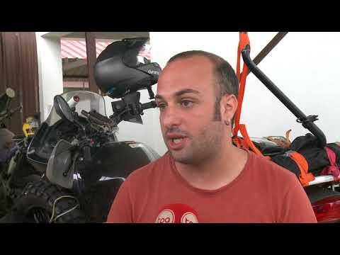 Entrevista en TPA Television Publica Angola- Vuelta al Mundo en Moto