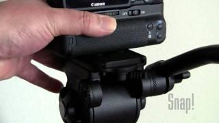 professional video tripod with fluid drag head wf718