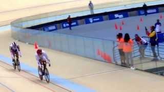 Final odesur 2014 ciclismo velocidad Colombia contra Venezuela