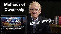 36 Methods of Ownership Part 1: Arizona Real Estate License Exam Prep