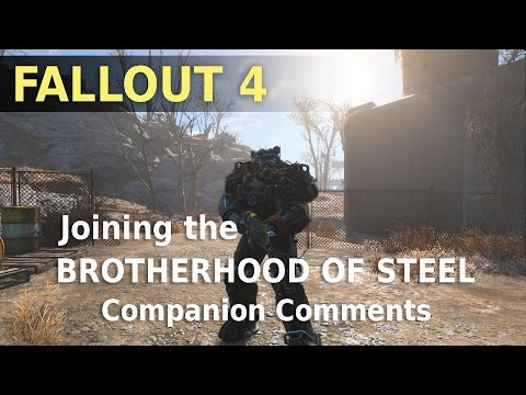 fallout 4 how to join the brotherhood of steel