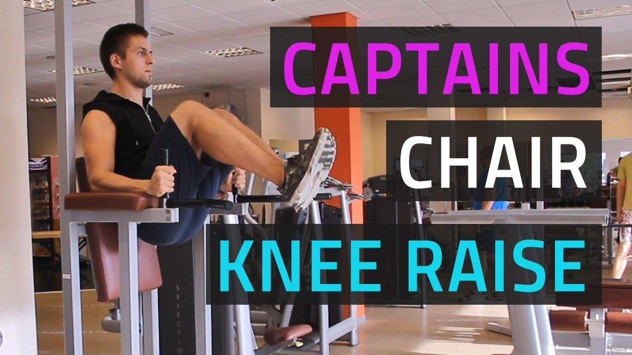 captains chair gym machine beach bathroom accessories knee raise youtube