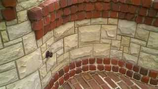 Stone/brick Fireplace With Brick Oven And Bbq Designed And Erected By Josh Link