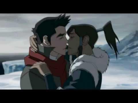 Korra And Mako Kiss Scene Youtube