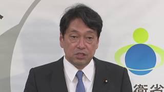 【内閣改造】防衛相に再起用 小野寺五典氏が会見(2017年8月3日)