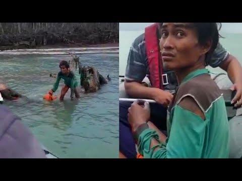 Video Detik-detik TNI AL Temukan Korban Tsunami Terdampar 9 Hari, Bertahan Makan Sampah di Laut Mp3
