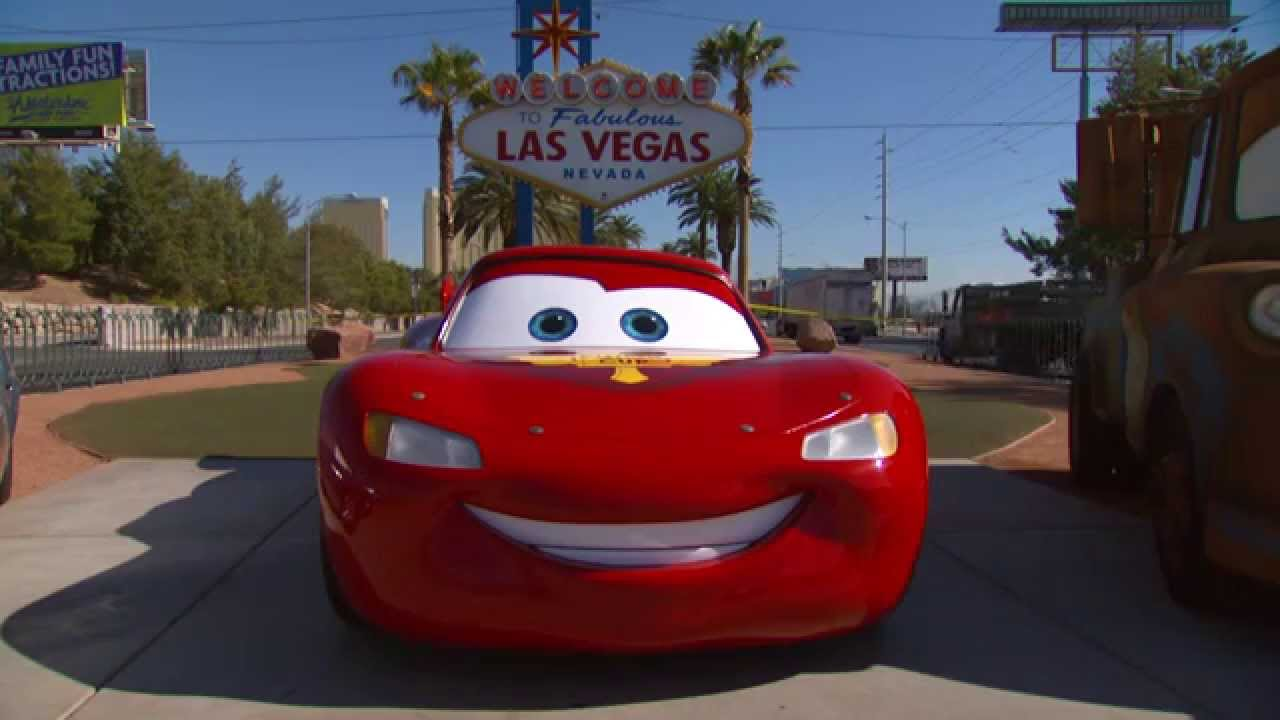 disney cars las vegas welcome sign youtube. Black Bedroom Furniture Sets. Home Design Ideas