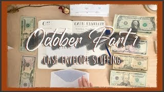 INCONSISTENT INCOME CASH ENVELOPE STUFFING | October Part One | Dave Ramsey Inspired Budgeting