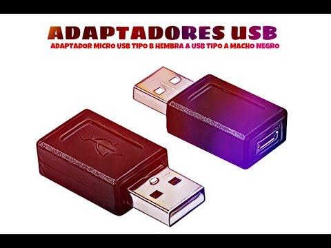 Video de Adaptador micro usb tipo B hembra a USB tipo A macho  Negro