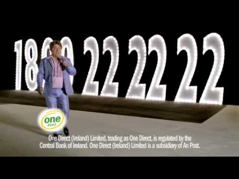 Pat Shortt One Direct TV ad. One Direct Home Insurance 1890 222222
