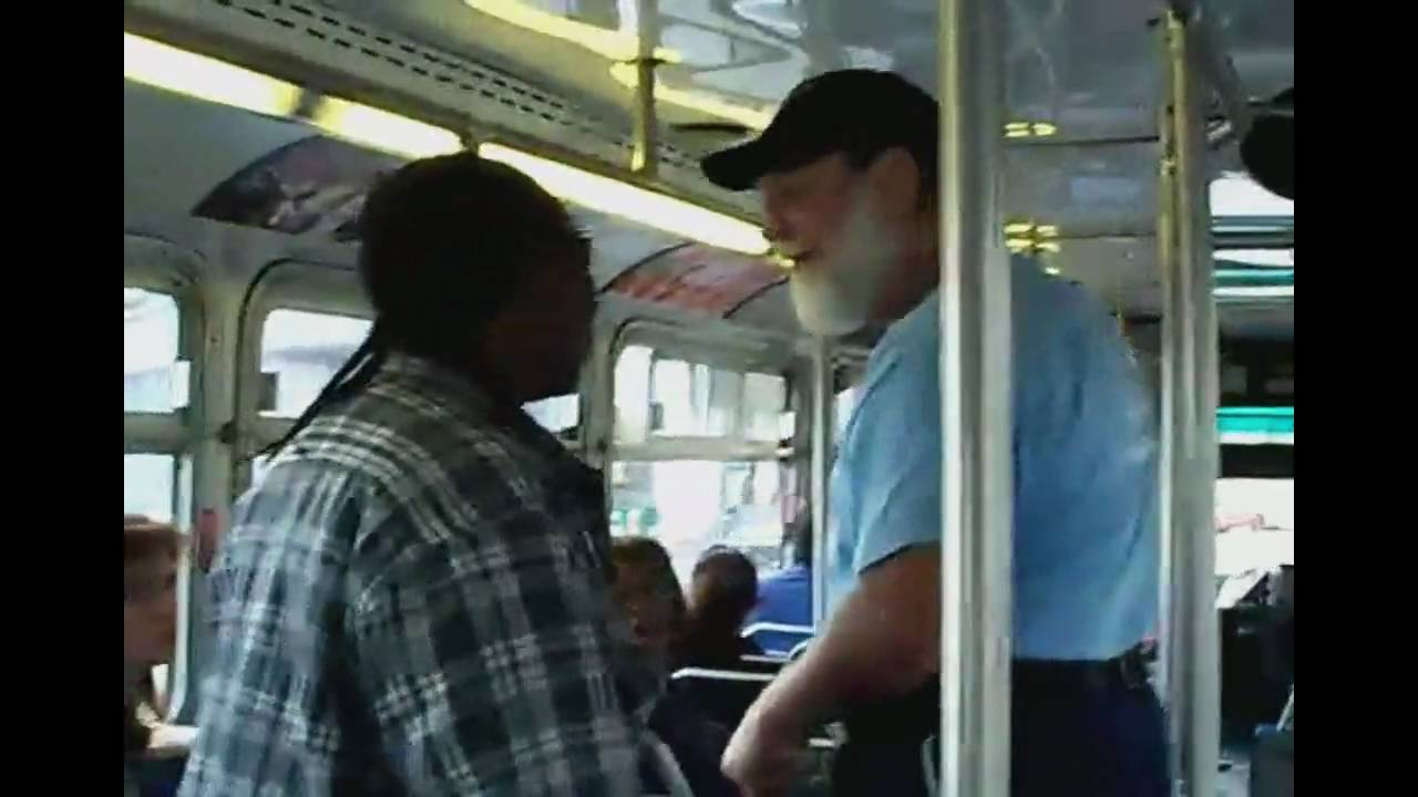 Download Old man beats young guy AC transit bus fight w/ subtitles - Full story + interview HD