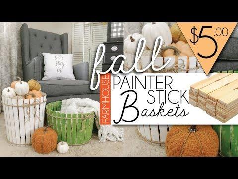 DIY FALL Farmhouse Decor | PAINTER STICKS CRAFT |