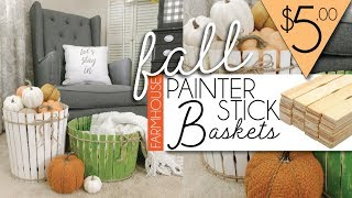 DIY FALL Farmhouse Decor | PAINTER STICKS CRAFT |
