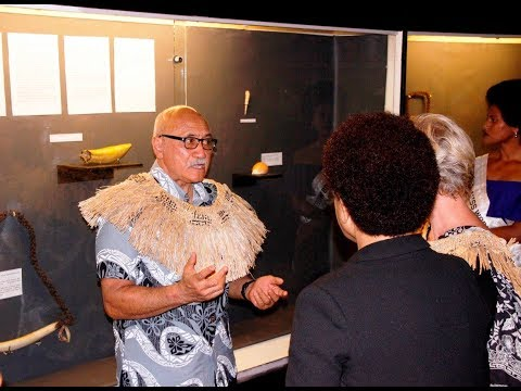 "Fijian President launches ""Kamunaga: Story of Tabua"" Exhibition at the Fiji Museum."