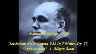 Sviatoslav Richter Beethoven Piano Sonata 23 In F Minor Op 57 Appassionata