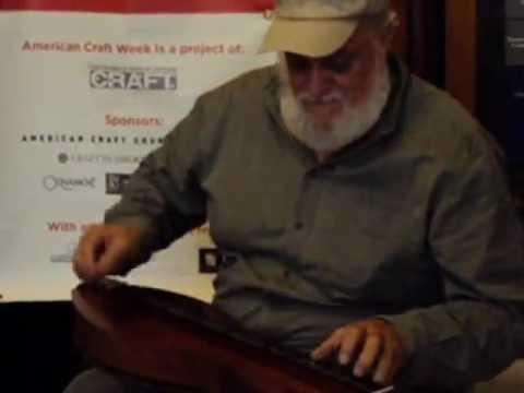 Asheville Artist - Don Pedi on Appalachian dulcimer during American Craft Week