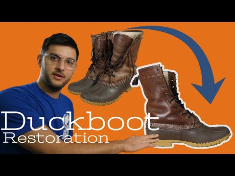 Duck Boot Restoration - 8 Years Of Use