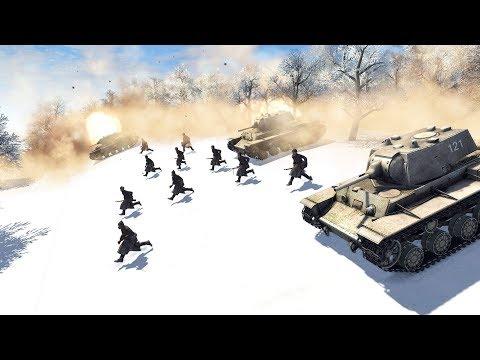 Barbarossa Fails, Massive Soviet Counterattack Moscow 1941 | Men of War: Assault Squad 2 Gameplay