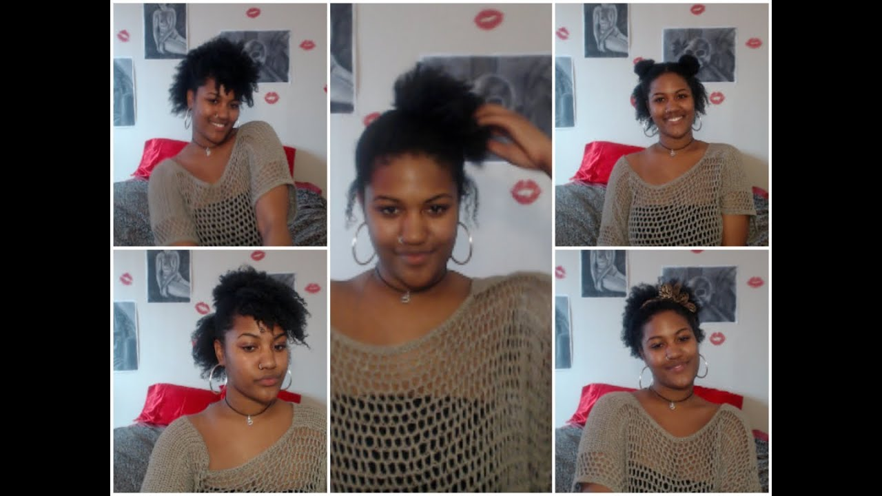 HAIRSTYLE IDEAS FOR SHORT NATURAL HAIR TWA AWKWARD STAGE LENGTH
