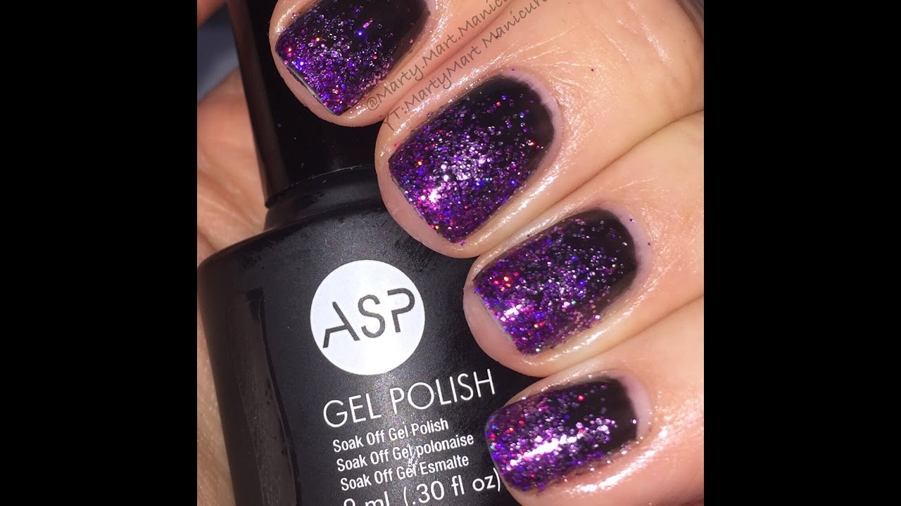 New Year S Eve Nails Gel Nails And Holo Glitter Youtube