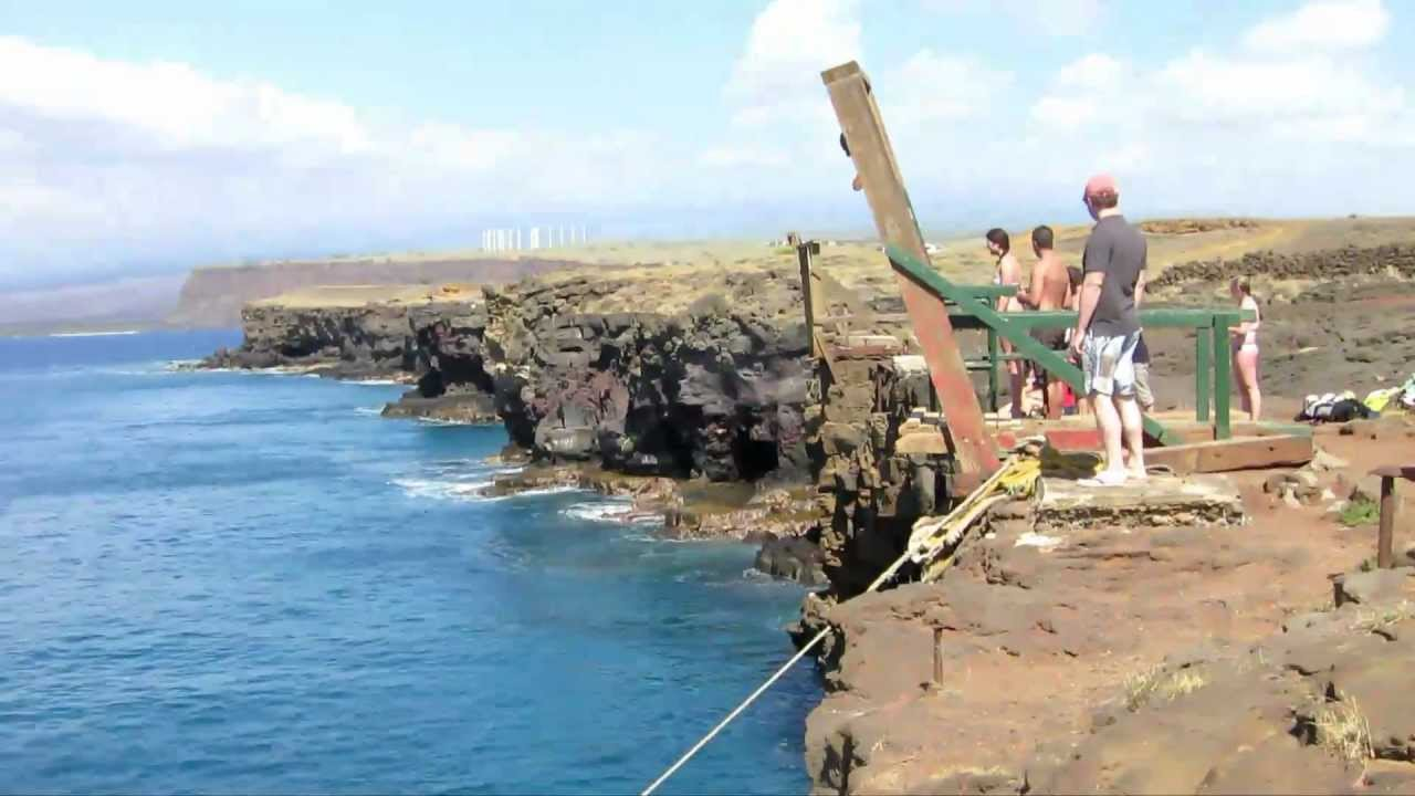 Hawaii South Point Ka Lae Cliff Jump And Green Sand Beach Island To Do Sightseeing You