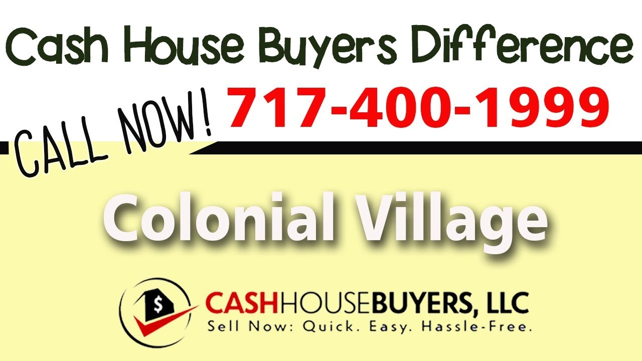 Cash House Buyers Difference in Colonial Village Washington DC   Call 7174001999   We Buy Houses